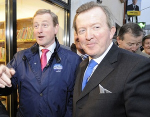 Fine Gael Leader Enda Kenny campaigning in Ballymote, Co. Sligo.